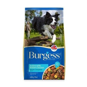 Burgess Active Chicken & Beef Dry Dog Food,Dry Dog Food,Burgess,Animal World UK - Animal World UK
