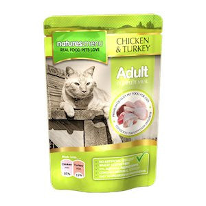 Natures Menu Chicken & Turkey Wet Cat Food Pouches,Wet Cat Food,Natures Menu,Animal World UK - Animal World UK