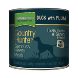 Natures Menu Country Hunter Duck with Plum Wet Dog Food Tins,Wet Dog Food,Natures Menu,Animal World UK - Animal World UK