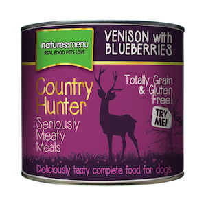 Natures Menu Country Hunter Venison with Blueberries Wet Dog Food Tins,Wet Dog Food,Natures Menu,Animal World UK - Animal World UK