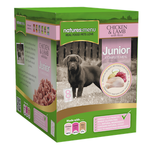 Natures Menu Junior Chicken & Lamb Wet Dog Food Pouches,Wet Dog Food,Natures Menu,Animal World UK - Animal World UK