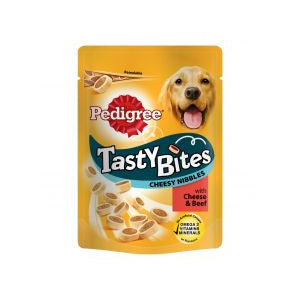 Pedigree Tasty Bites Cheesy Nibbles with Cheese & Beef Dog Treats