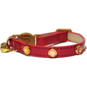 Rosewood Cherry Cat Collar