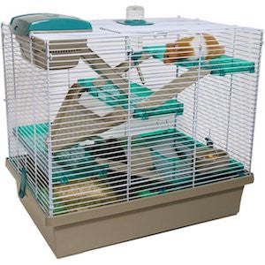 Rosewood Pico XL- Translucent Teal Hamster Cage,Small Animal Cages,Rosewood,Animal World UK - Animal World UK