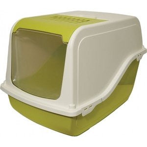 Rosewood Ariel F/Opening Spring Green Hooded Cat Litter Tray,Cat Litter Trays,Rosewood,Animal World UK - Animal World UK