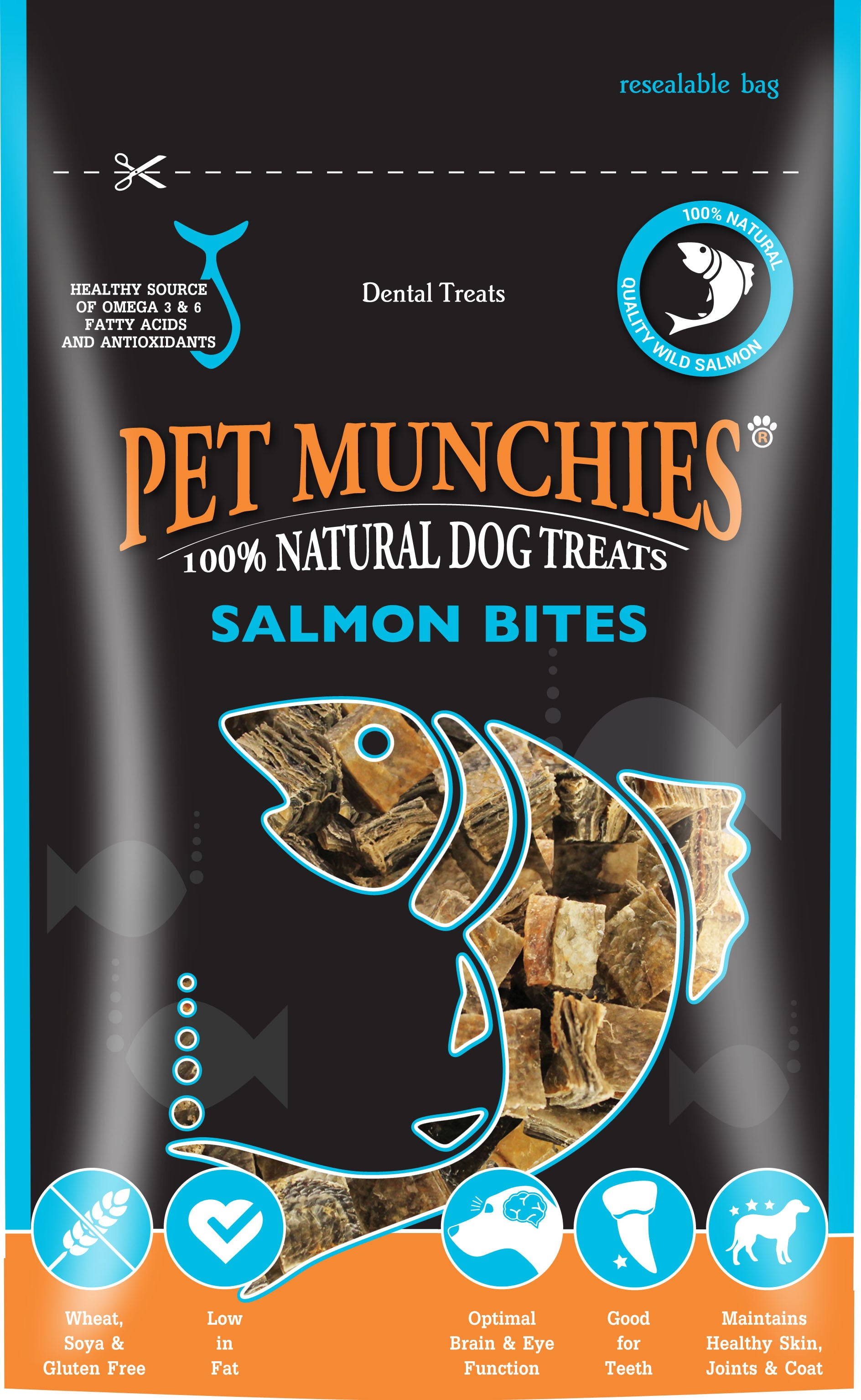 Pet Munchies 100% Natural Salmon Bites Dog Treats