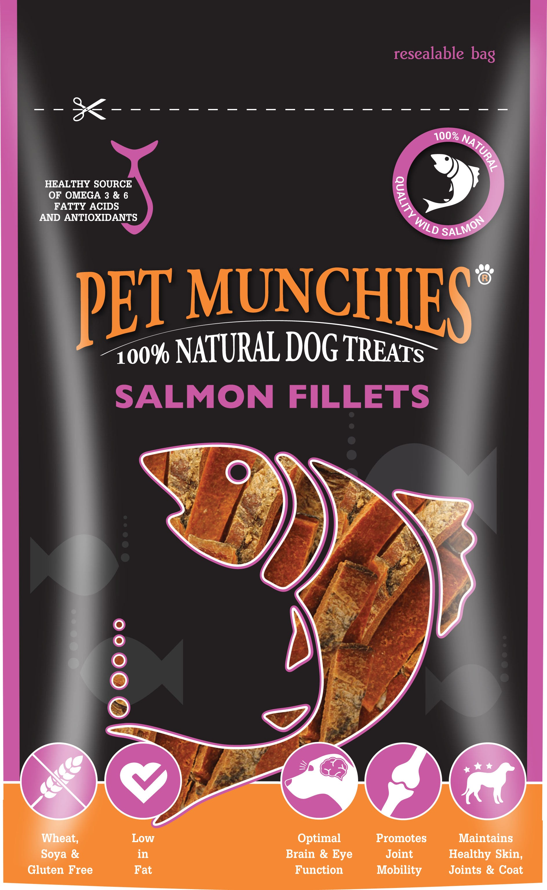 Pet Munchies 100% Natural Salmon Fillets Dog Treats