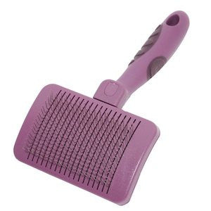 Self Cleaning Slicker Dog Brush,Dog Grooming,Rosewood,Animal World UK - Animal World UK