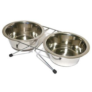 Stainless Steel Twin Cat Bowls