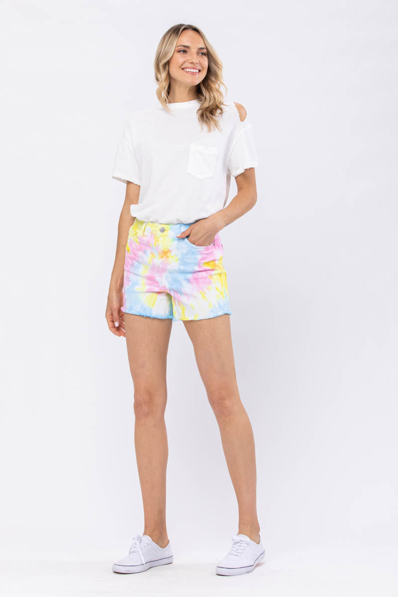 Sally Swirl Tie-Dye Shorts - PLUS