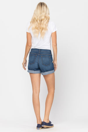 Olivia Cuffed High Waisted Shorts