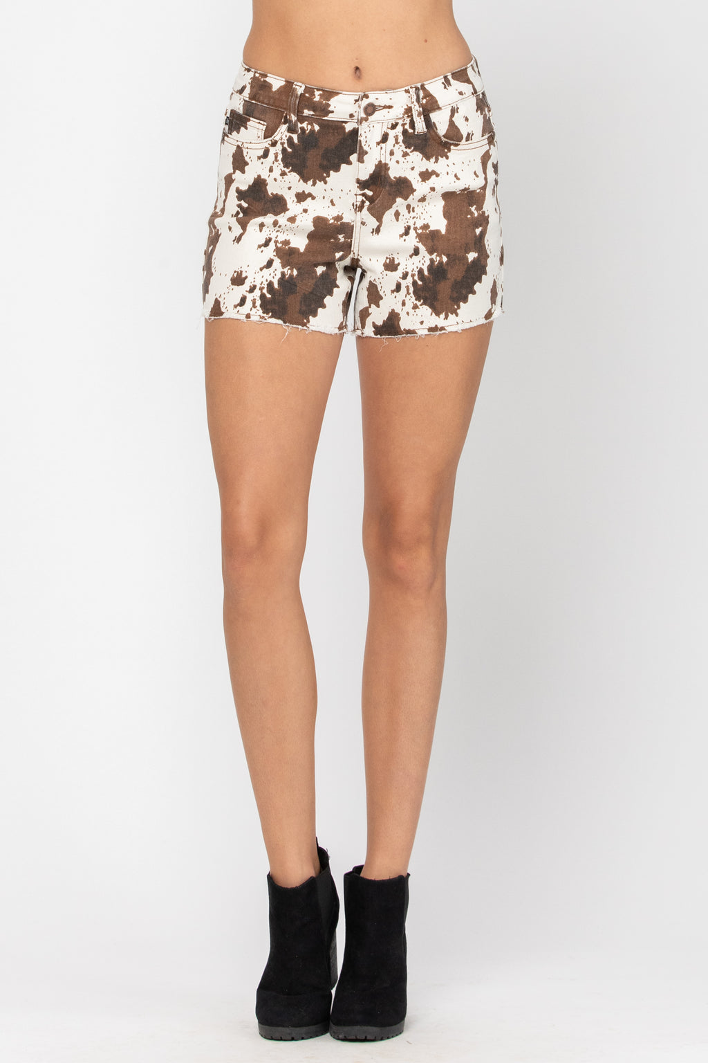 Cow Print Shorts - PLUS