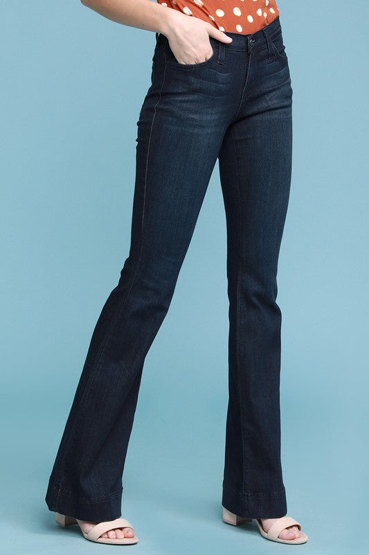 Avery Dark Blue Denim Flare