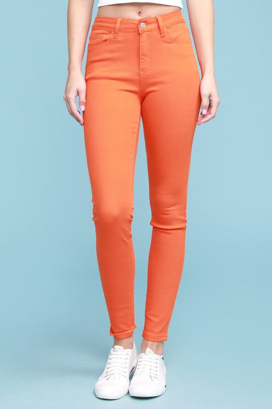 Chrissy Orange Colored Skinny