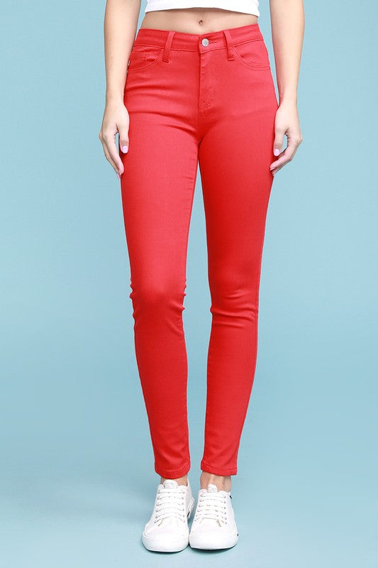 Rachel Light Red Colored Skinny