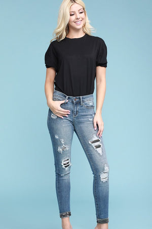 Sophia Camouflage Patch Skinny - PLUS