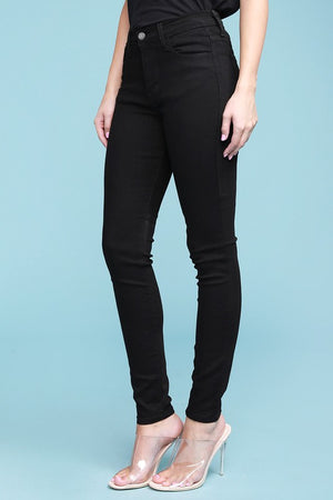 Dolly High Waist Skinny in Black
