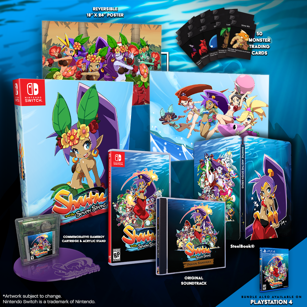 Physical editions of Shantae and the Seven Sirens for PS4 & Switch!