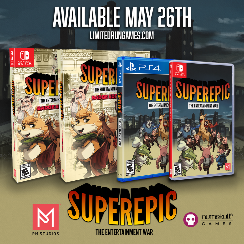 SuperEpic will be available for Switch & PS4 through our distribution line!
