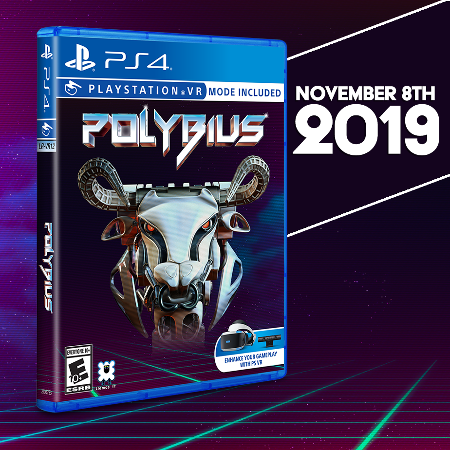 Strive for hyperspeed in Polybius this Friday, November 8th.