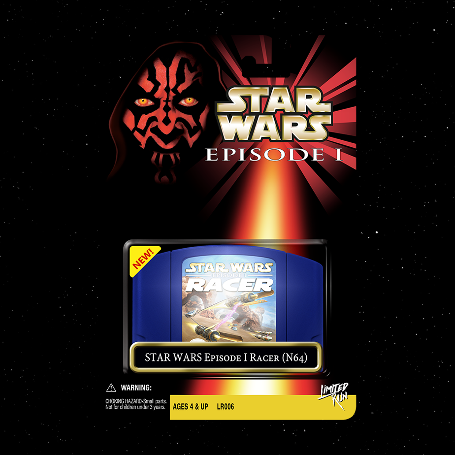 Star Wars™: Episode 1 Racer continues our Star Wars retro collection.