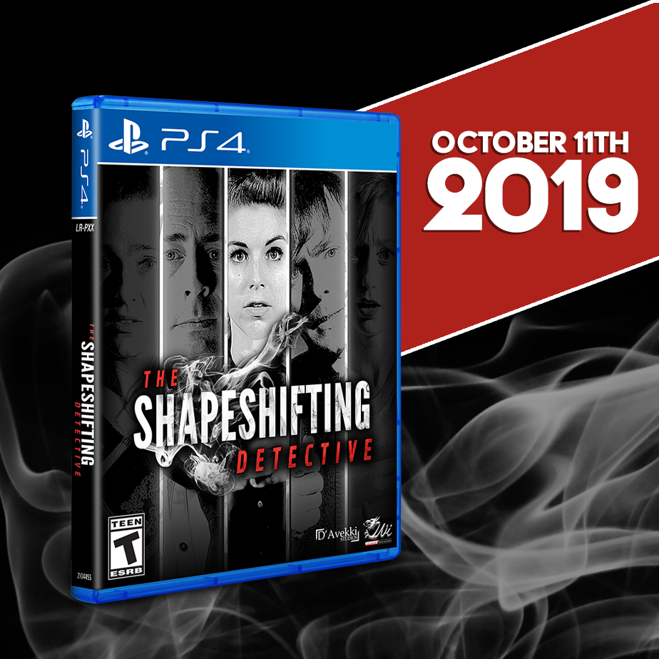 The Shapeshifting Detective will be on PS4 this Friday!