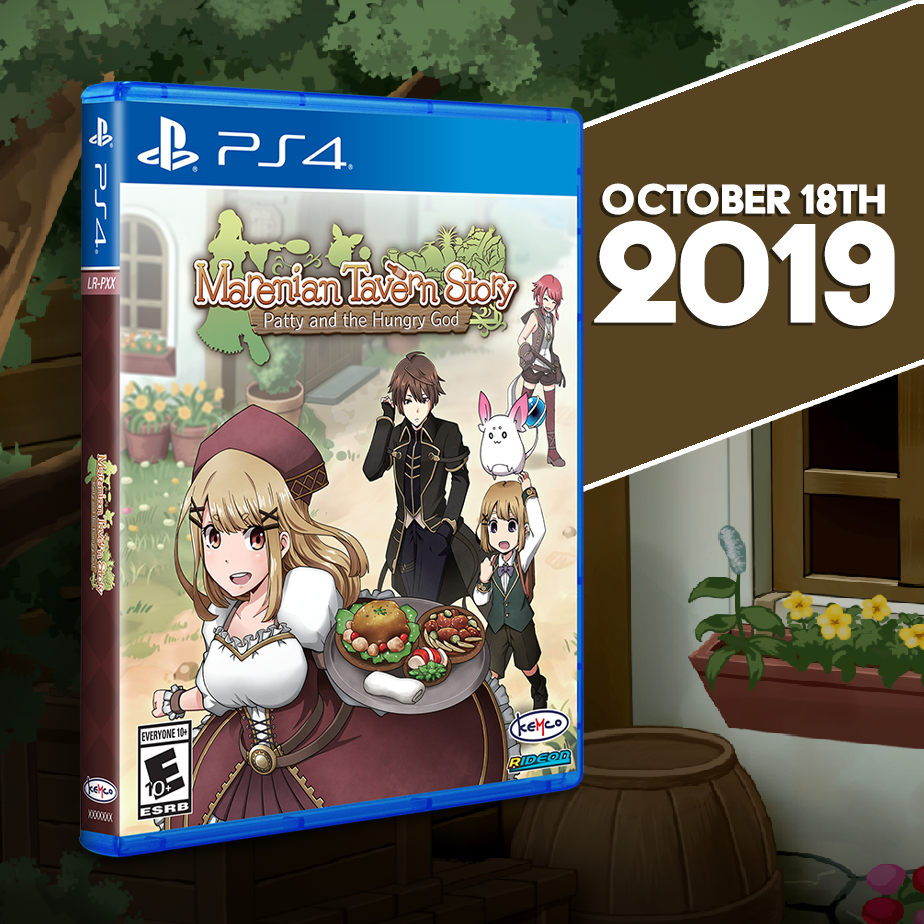 Marenian Tavern Story: Patty and the Hungry God gets a Limited Run for the PS4!
