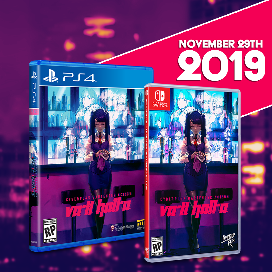 VA-11 HALL-A gets a Limited Run on the PS4 and Switch on November 29th.