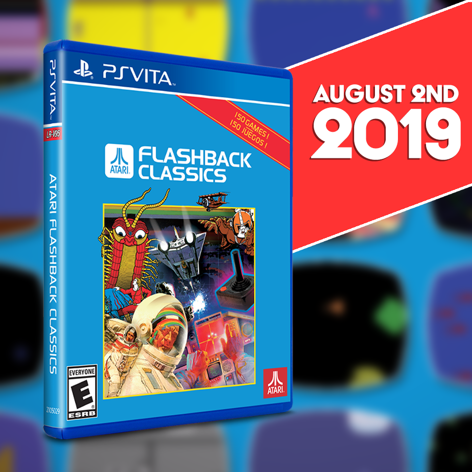Atari Flashback Classics gets a physical Limited Run for the Vita on Aug. 2nd!