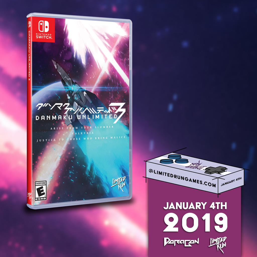 Danmaku Unlimited 3 available on January 4th!