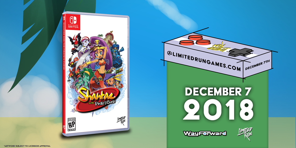 We're bringing Shantae and the Pirate's Curse to Switch!