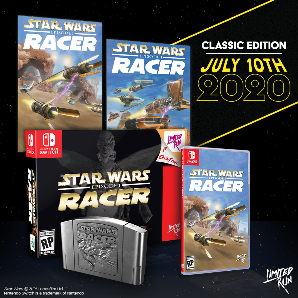 Star Wars: Episode 1 Racer will be getting a Limited Run for PS4, Switch, and PC!