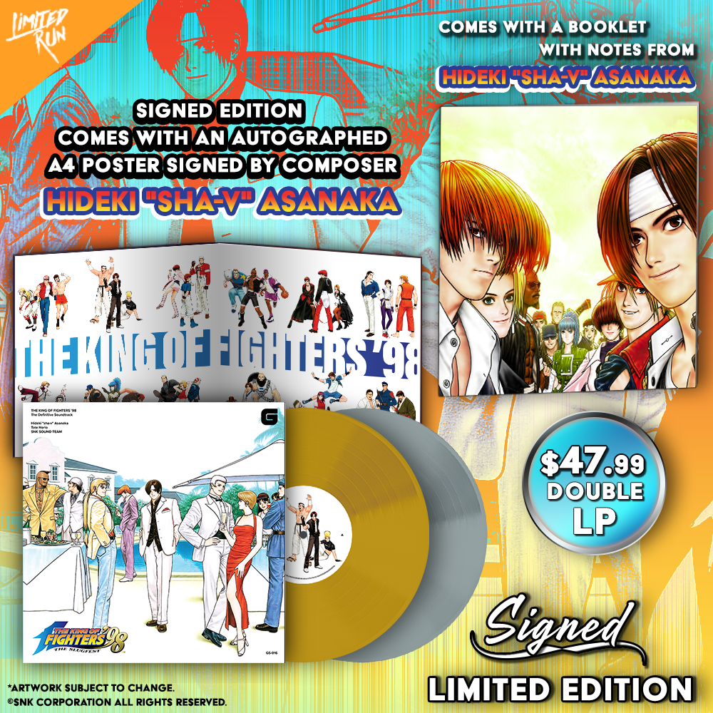 The King of Fighters '98 OST will be available on vinyl or CD!