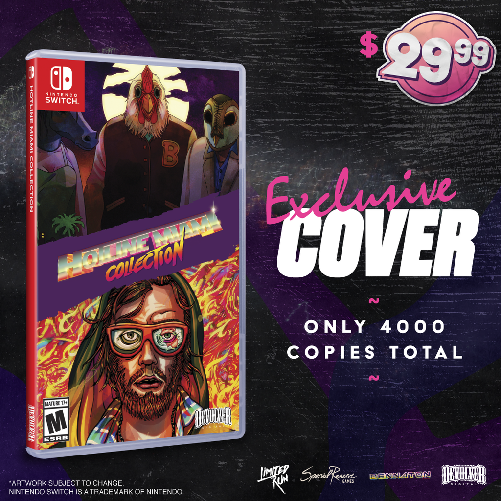 We'll be selling a variant of Special Reserves's physical Hotline Miami Collection for the Switch!