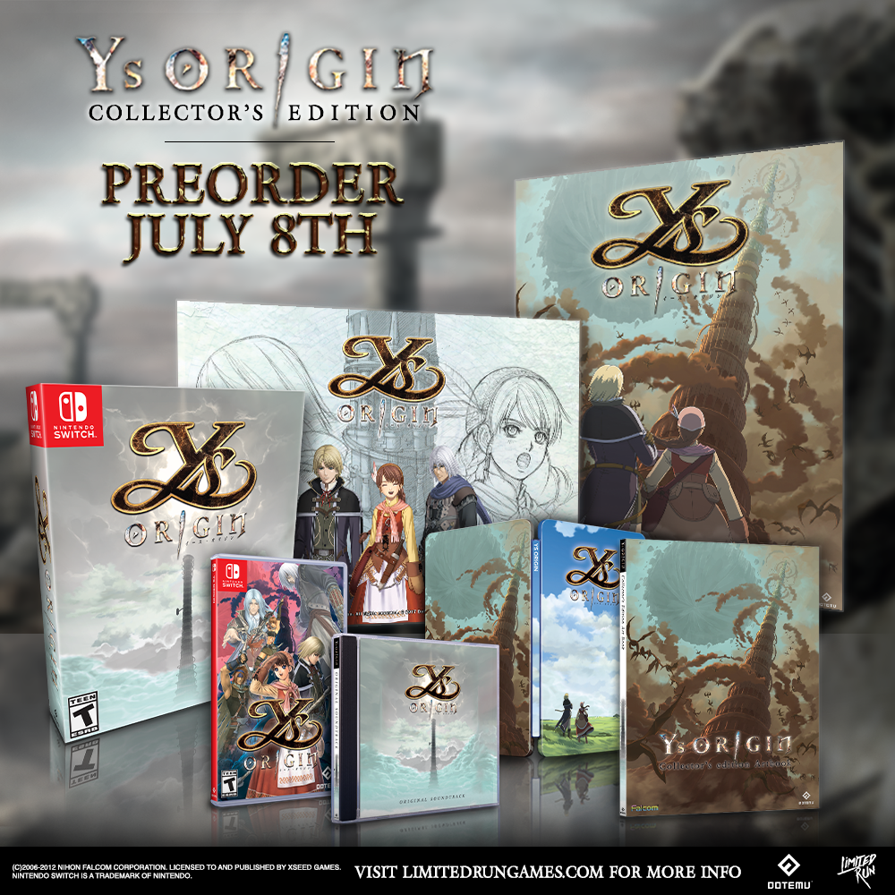 Ys Origin will be available to pre-order starting tomorrow!