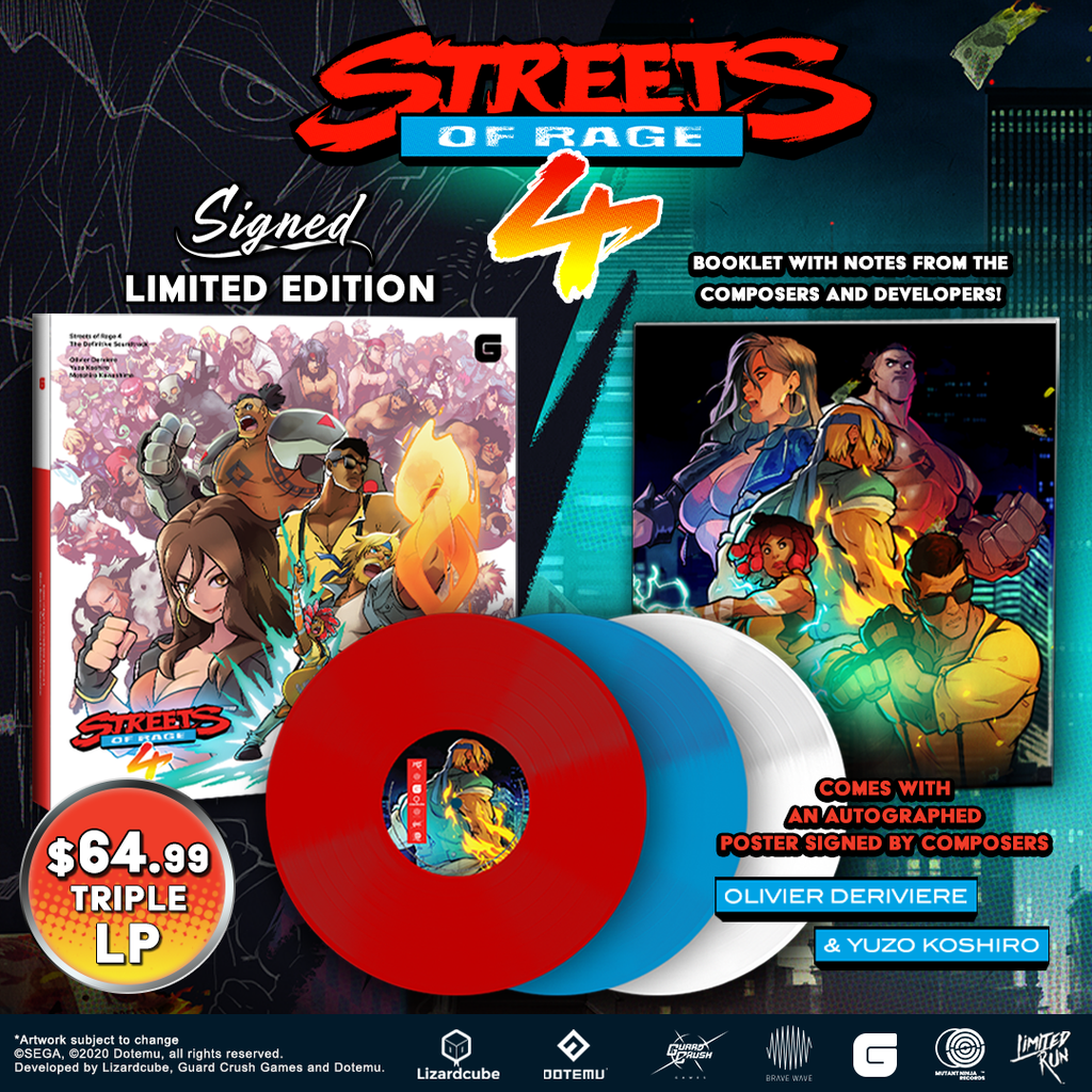 Streets of Rage 4 soundtrack on vinyl, for all the beat-em-up tunes you could ever want!