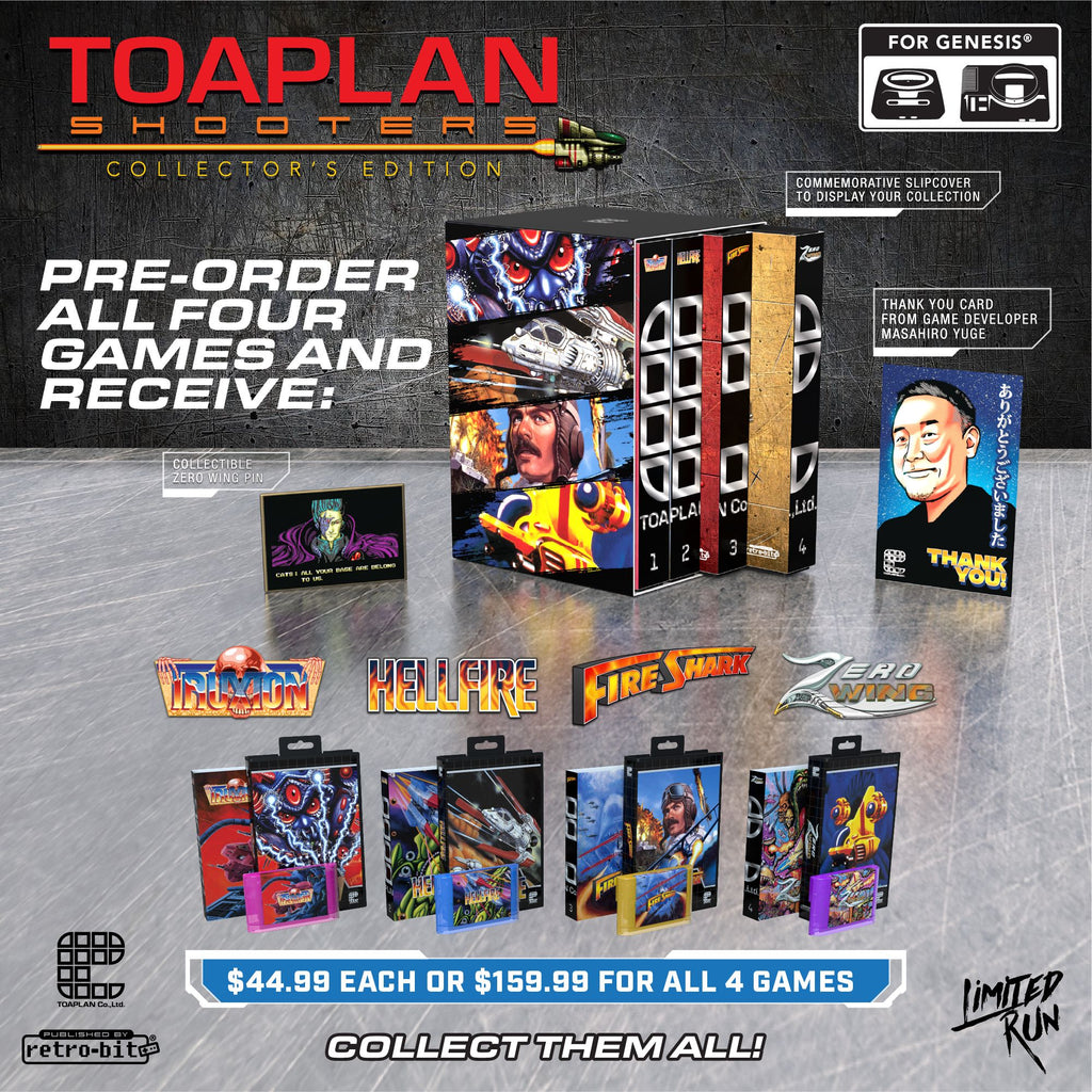 Toaplan Shooters will be available to order this Tuesday!