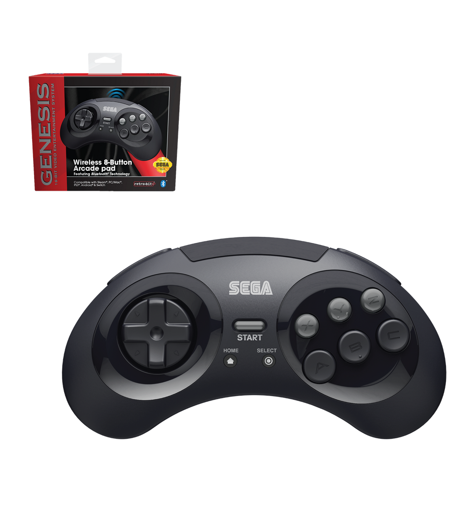 Official SEGA Genesis Bluetooth Controller (Black)