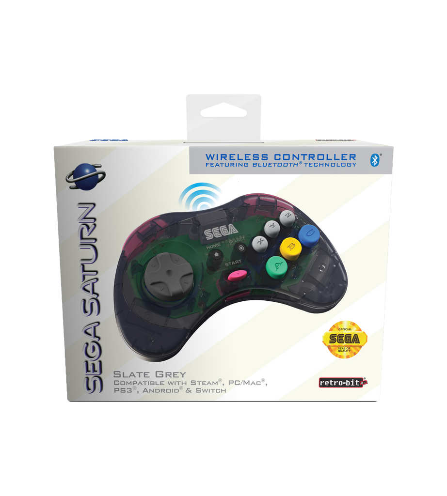 Official SEGA Saturn Bluetooth Controller (Slate Grey)