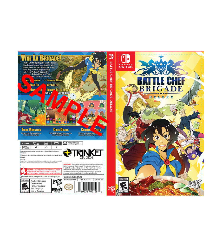 Battle Chef Brigade Best Buy Exclusive Cover Sheet