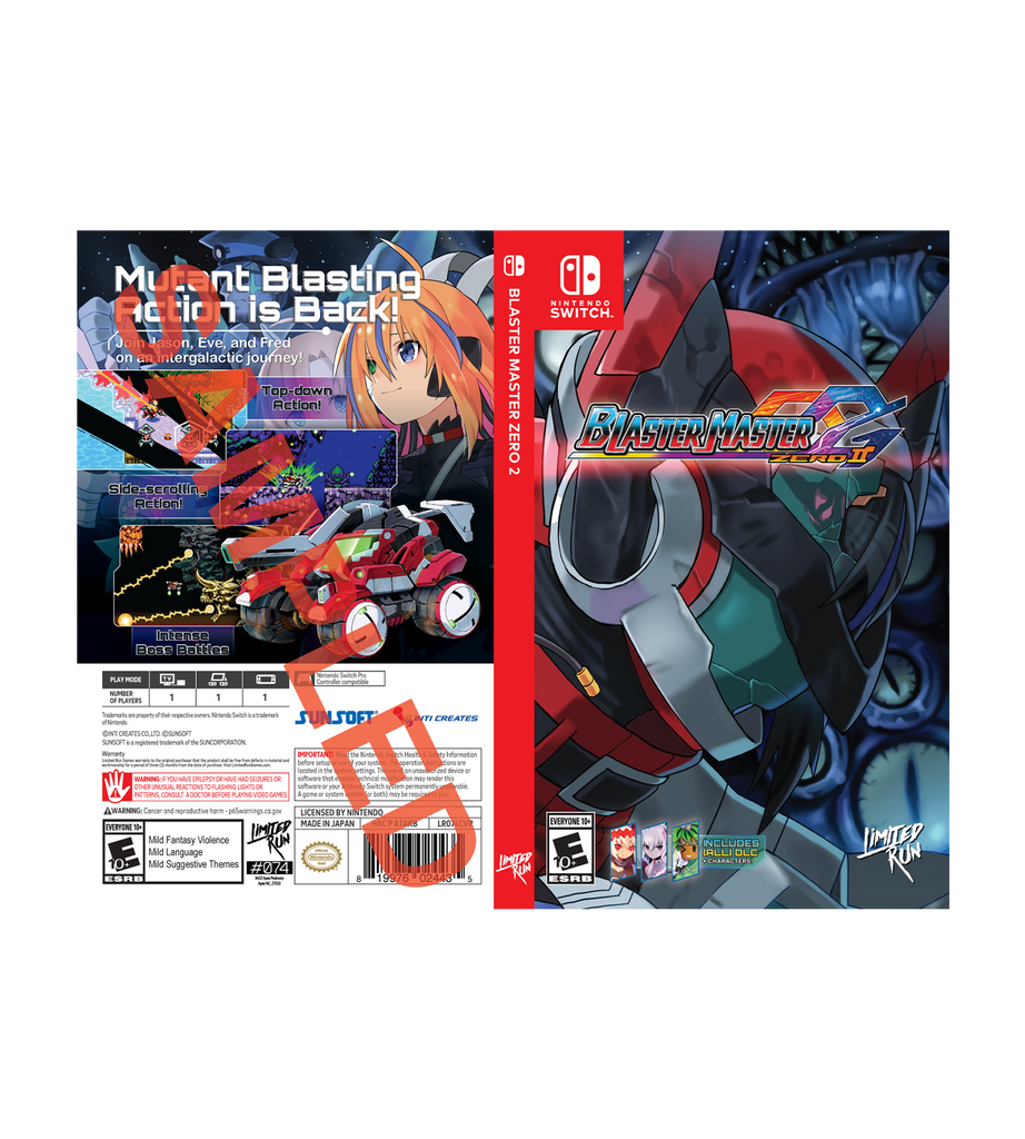 Blaster Master Zero 2 Best Buy Exclusive Cover Sheet