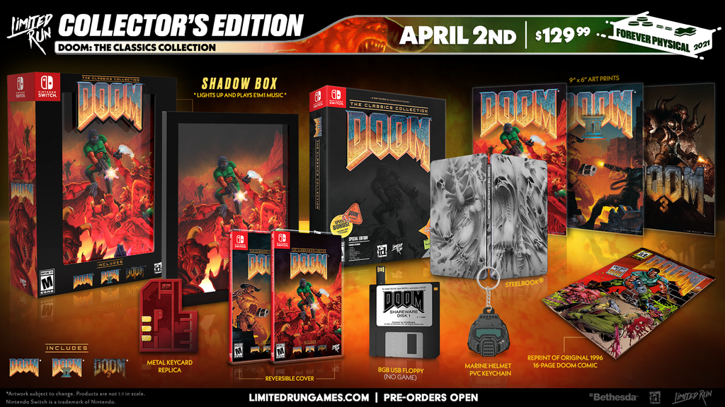 Switch Limited Run #102: DOOM: The Classics Collection Collector's Edition