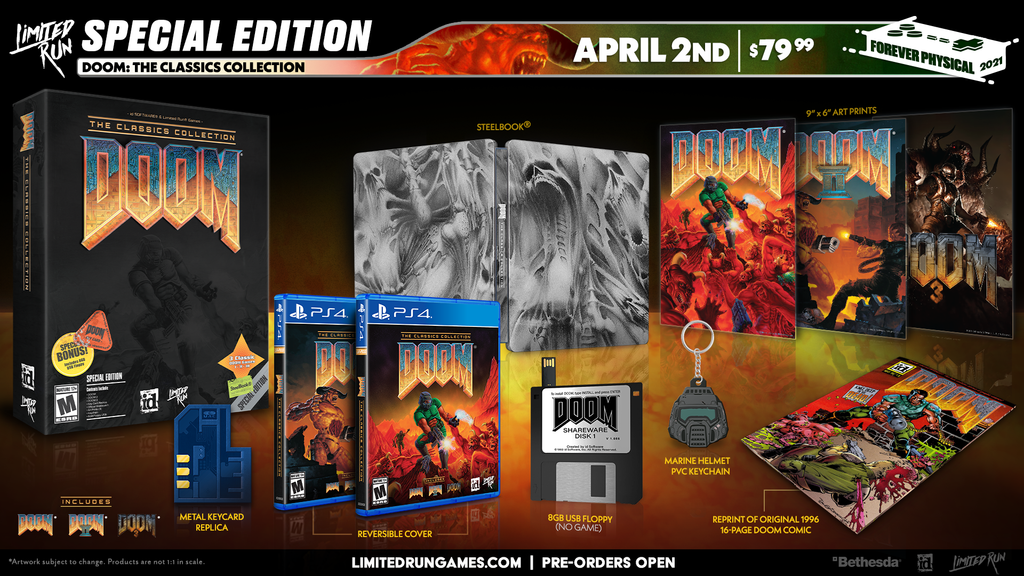 Limited Run #395: DOOM: The Classics Collection Special Edition (PS4)