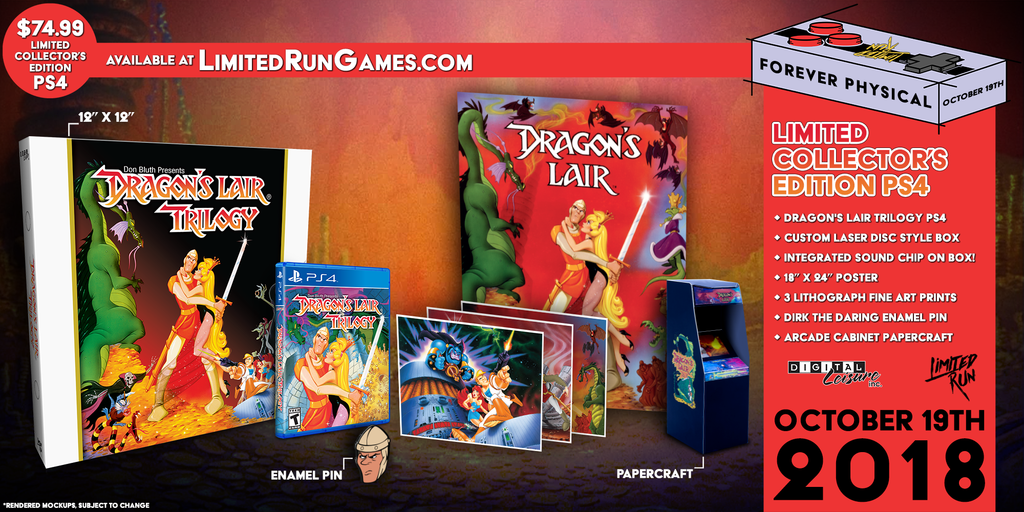 Limited Run #183: Dragon's Lair Trilogy Classic Edition (PS4)