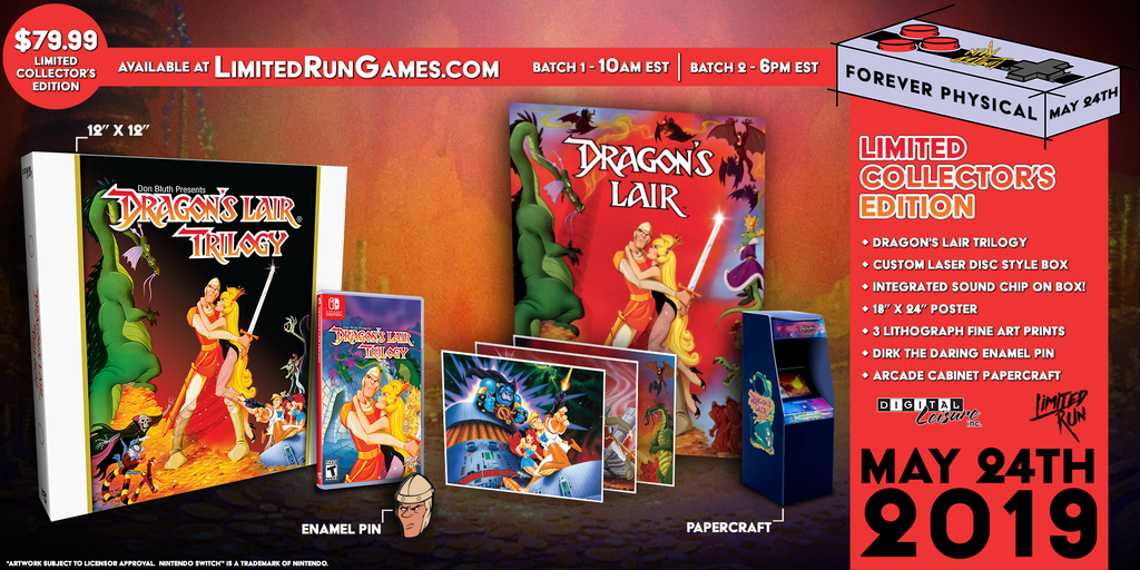 Switch Limited Run #36: Dragon's Lair Trilogy Classic Edition