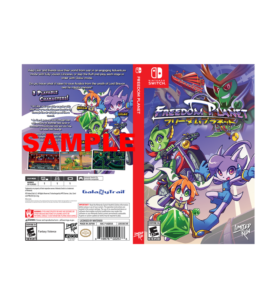 Freedom Planet Best Buy Exclusive Cover Sheet