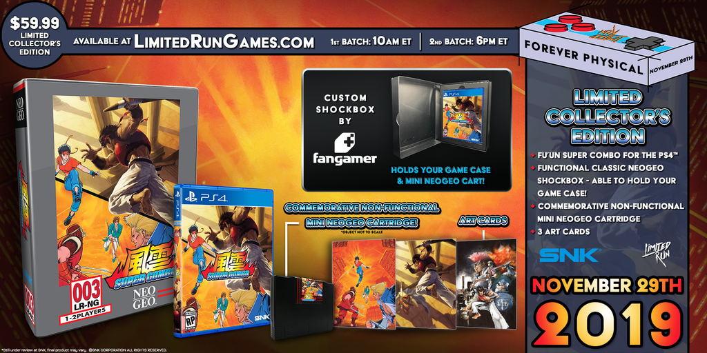 Limited Run #312: Fu'un Super Combo Classic Edition (PS4)