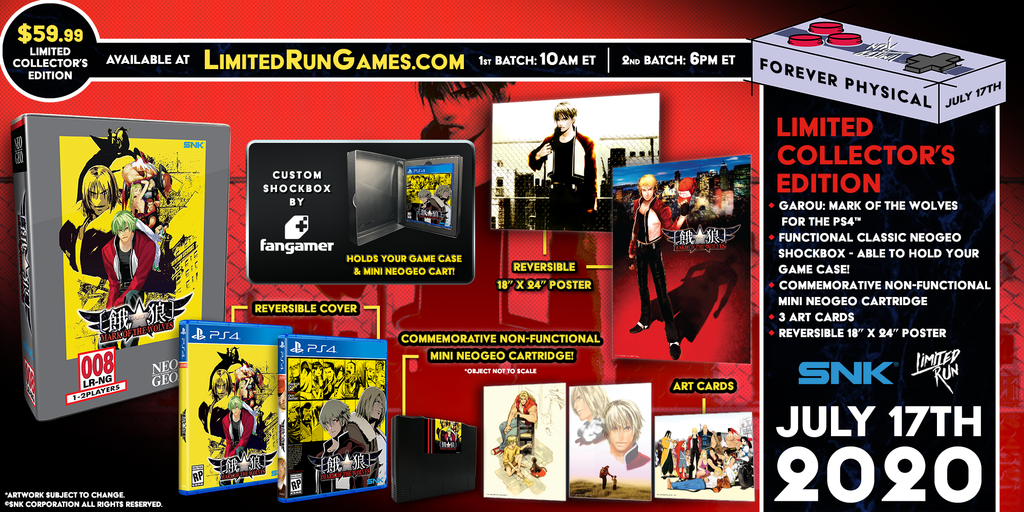 Limited Run #354: GAROU: MARK OF THE WOLVES Classic Edition (PS4)