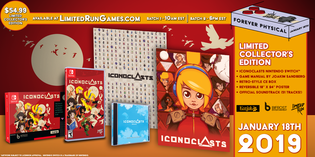 Switch Limited Run #25: Iconoclasts Classic Edition [PREORDER]