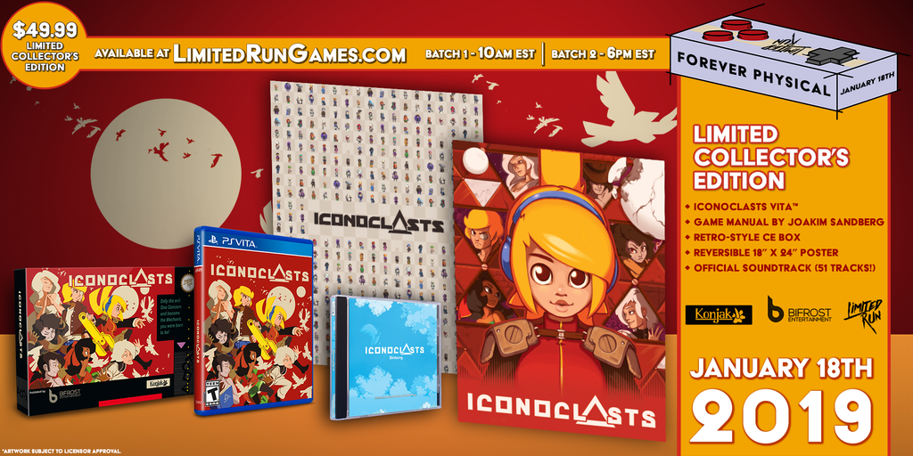 Limited Run #209: Iconoclasts Classic Edition (Vita) [PREORDER]